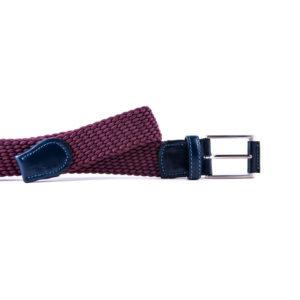 Cinturón hombre color vino
