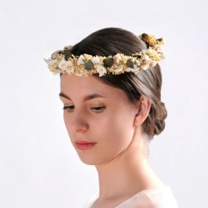 broom flower bridal crown