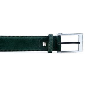 cinturón de cuero natural verde caza