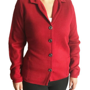 Ladies knitted jacket made in spain