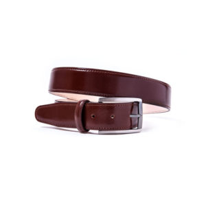 Leather belt sewing