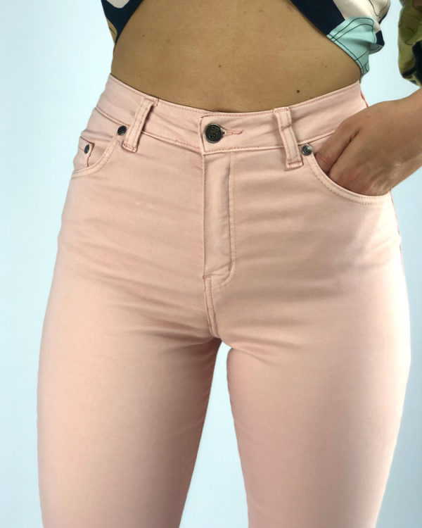 Jeans de mujer rosa