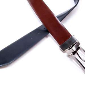 reversible natural leather belt