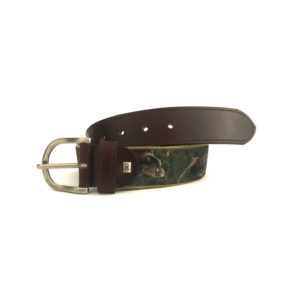 Hunting motif belts