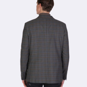 Gray checked blazer