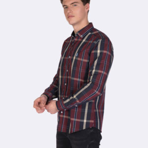 Javier Larrainzar checked shirt