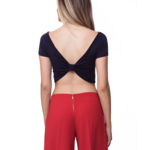 Top Viscosa Navy